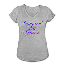 Load image into Gallery viewer, COVERED BY GRACE -WOMEN'S Ultra Cotton Ladies T-Shirt - heather gray
