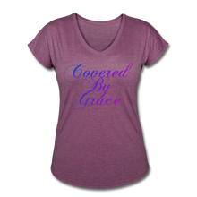 Load image into Gallery viewer, COVERED BY GRACE -WOMEN'S Ultra Cotton Ladies T-Shirt - heather plum