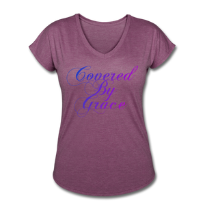 COVERED BY GRACE -WOMEN'S Ultra Cotton Ladies T-Shirt - heather plum