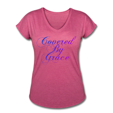 Load image into Gallery viewer, COVERED BY GRACE -WOMEN'S Ultra Cotton Ladies T-Shirt - heather raspberry
