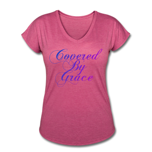 COVERED BY GRACE -WOMEN'S Ultra Cotton Ladies T-Shirt - heather raspberry