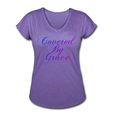 Load image into Gallery viewer, COVERED BY GRACE -WOMEN'S Ultra Cotton Ladies T-Shirt - purple heather