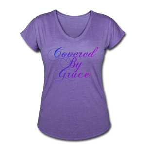 COVERED BY GRACE -WOMEN'S Ultra Cotton Ladies T-Shirt - purple heather