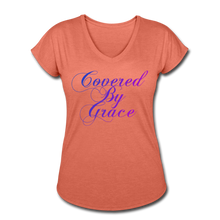 Load image into Gallery viewer, COVERED BY GRACE -WOMEN'S Ultra Cotton Ladies T-Shirt - heather bronze