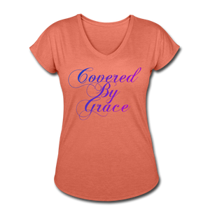 COVERED BY GRACE -WOMEN'S Ultra Cotton Ladies T-Shirt - heather bronze