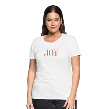 Load image into Gallery viewer, JOY-Women's Premium T-Shirt Glittery Flex Print - white