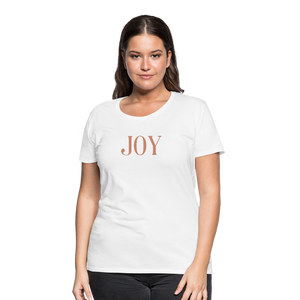 JOY-Women's Premium T-Shirt Glittery Flex Print - white