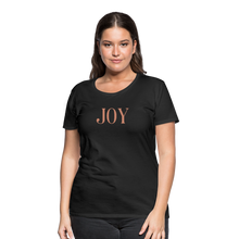Load image into Gallery viewer, JOY-Women's Premium T-Shirt Glittery Flex Print - black