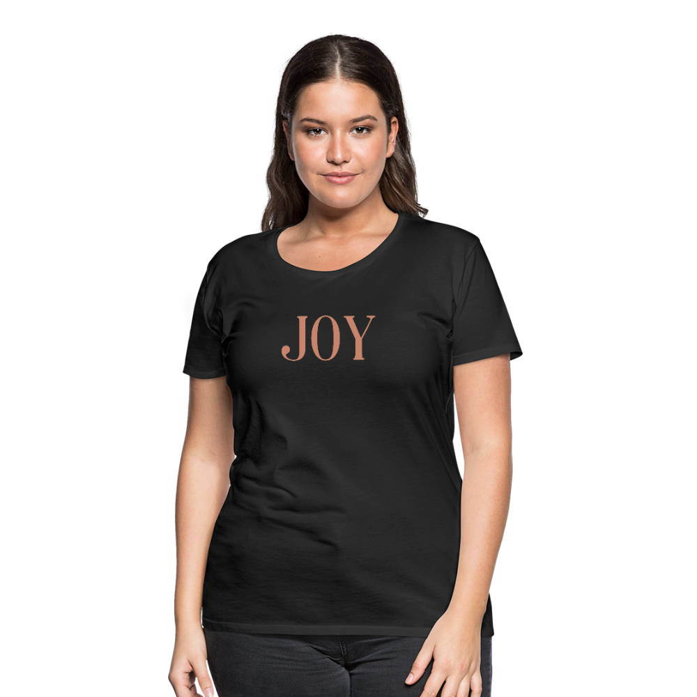 JOY-Women's Premium T-Shirt Glittery Flex Print - black