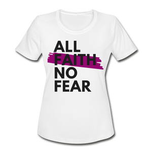 NO FEAR WOMEN'S-Moisture Wick/Performance Tee - white