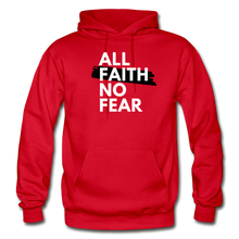 Load image into Gallery viewer, NO FEAR- Heavy Blend Adult Hoodie - red
