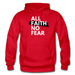 NO FEAR- Heavy Blend Adult Hoodie - red