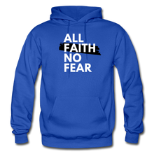 Load image into Gallery viewer, NO FEAR- Heavy Blend Adult Hoodie - royal blue