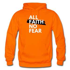 NO FEAR- Heavy Blend Adult Hoodie - orange