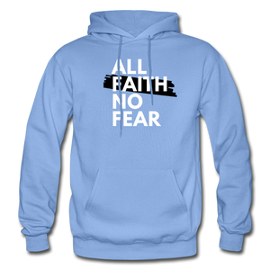 NO FEAR- Heavy Blend Adult Hoodie - carolina blue