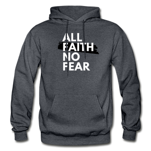 NO FEAR- Heavy Blend Adult Hoodie - charcoal gray