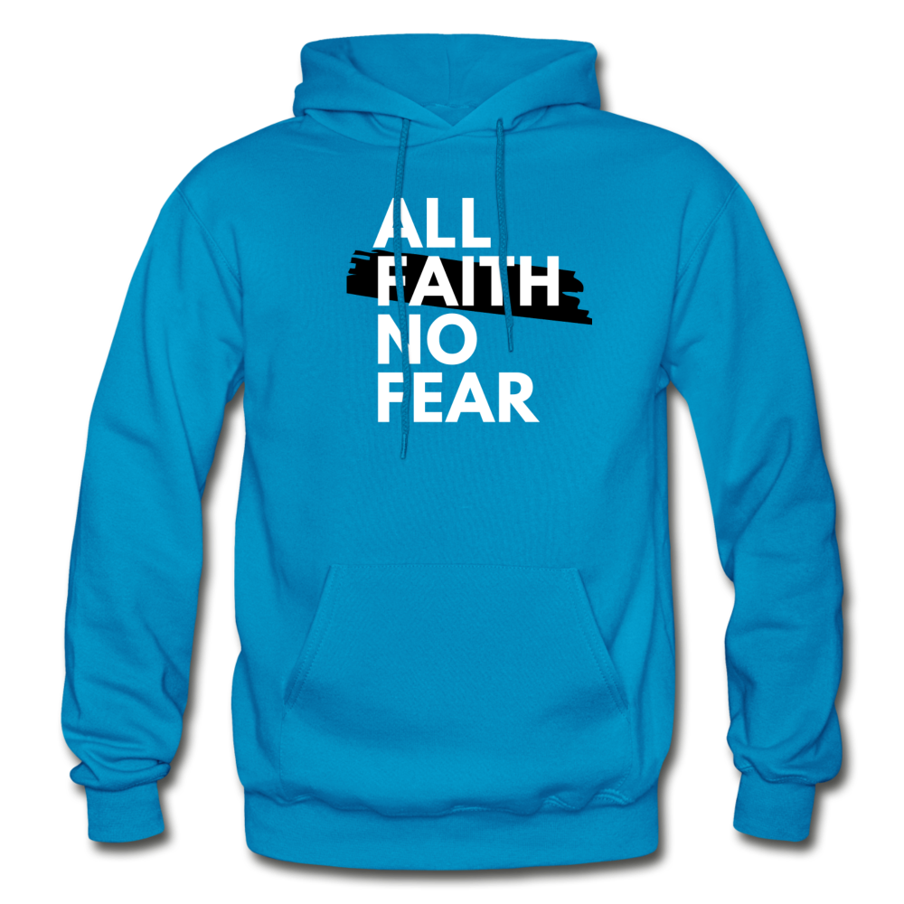 NO FEAR- Heavy Blend Adult Hoodie - turquoise
