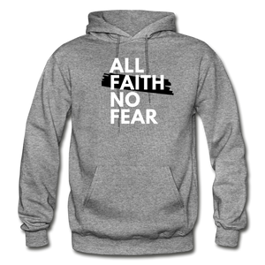 NO FEAR- Heavy Blend Adult Hoodie - graphite heather