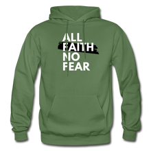 Load image into Gallery viewer, NO FEAR- Heavy Blend Adult Hoodie - military green
