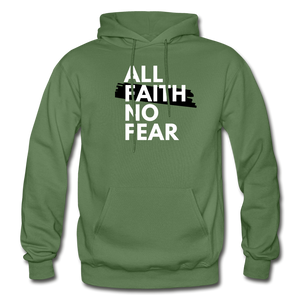 NO FEAR- Heavy Blend Adult Hoodie - military green