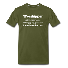 Load image into Gallery viewer, Worshipper-Men's Premium T-Shirt - olive green