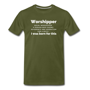 Worshipper-Men's Premium T-Shirt - olive green