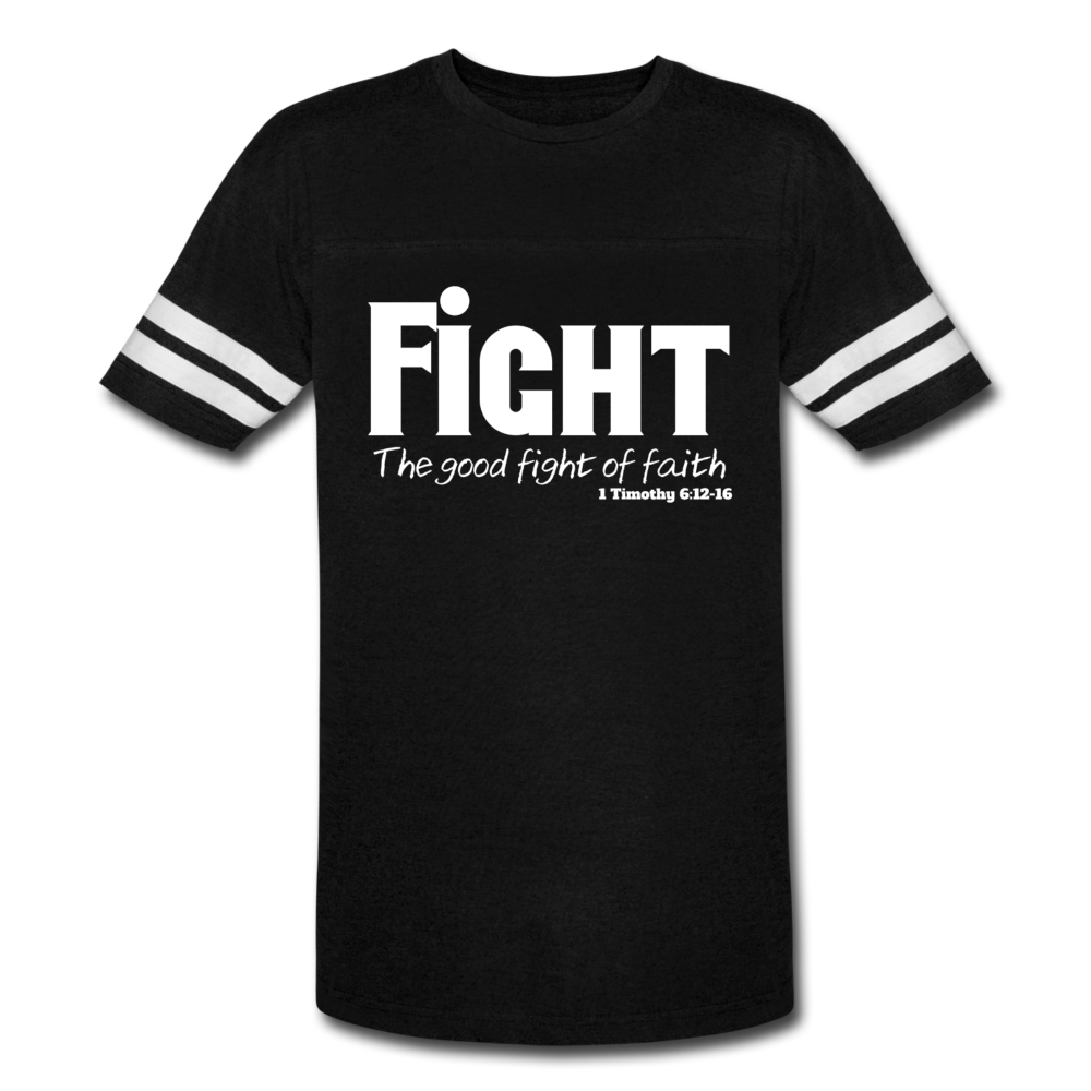 Fight-Vintage Sport T-Shirt - black/white