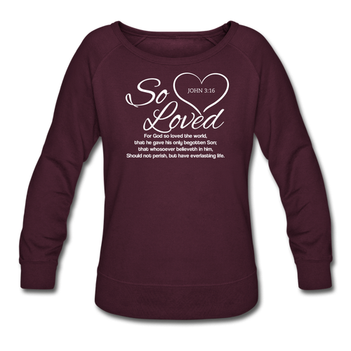 SO LOVED-Women's Crewneck Sweatshirt - plum