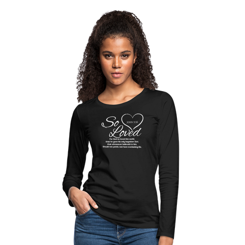 SO LOVED-Women's Premium Long Sleeve T-Shirt - black