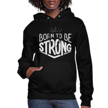 Load image into Gallery viewer, Glitter Flexi-Print-Born Strong-Women's Hoodie