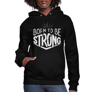 Glitter Flexi-Print-Born Strong-Women's Hoodie