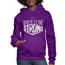 Load image into Gallery viewer, Born Strong-Women's Hoodie - purple