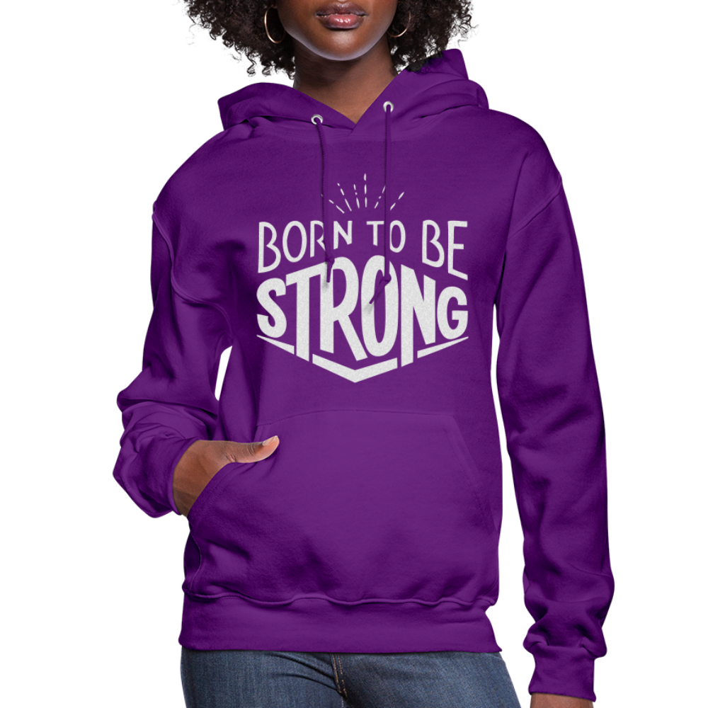 Born Strong-Women's Hoodie - purple