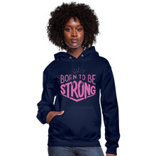 Load image into Gallery viewer, Born Strong-Women's Hoodie - navy