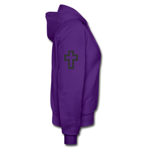 Team Jesus-Heavy Blend Women's Zip Hoodie - purple