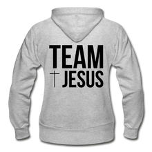 Load image into Gallery viewer, Team Jesus-Heavy Blend Women's Zip Hoodie - heather gray