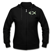Load image into Gallery viewer, Glow In The Dark Team Jesus- Heavy Blend Women's Zip Hoodie - black