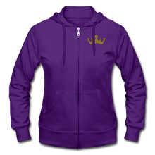 Load image into Gallery viewer, Glitter Glam Heavy Blend Women's Zip Hoodie - purple