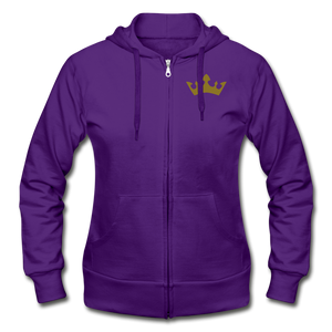 Glitter Glam Heavy Blend Women's Zip Hoodie - purple