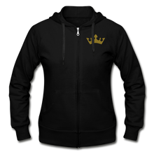Load image into Gallery viewer, Glitter Glam Heavy Blend Women's Zip Hoodie - black