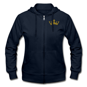Glitter Glam Heavy Blend Women's Zip Hoodie - navy