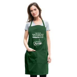 Kitchen Queen-Adjustable Apron - forest green