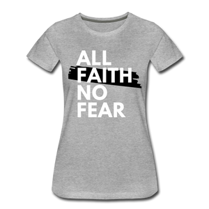 NO FEAR WOMEN'S- Ultra Cotton Ladies T-Shirt*** Runs Large - heather gray