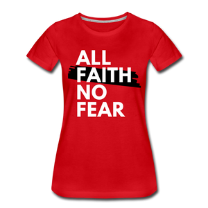 NO FEAR WOMEN'S- Ultra Cotton Ladies T-Shirt*** Runs Large - red
