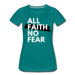 NO FEAR WOMEN'S- Ultra Cotton Ladies T-Shirt*** Runs Large - teal