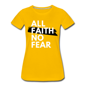 NO FEAR WOMEN'S- Ultra Cotton Ladies T-Shirt*** Runs Large - sun yellow