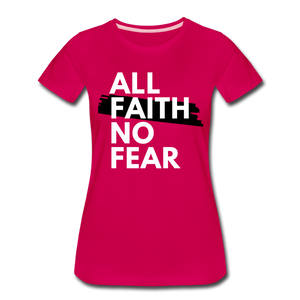 NO FEAR WOMEN'S- Ultra Cotton Ladies T-Shirt*** Runs Large - dark pink