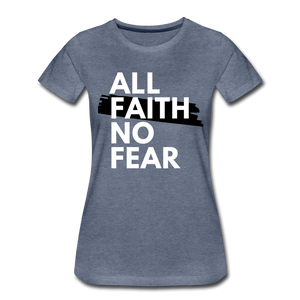 NO FEAR WOMEN'S- Ultra Cotton Ladies T-Shirt*** Runs Large - heather blue