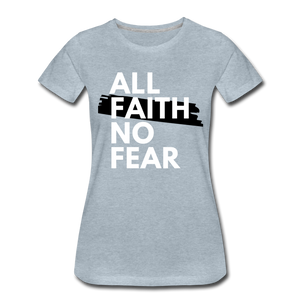 NO FEAR WOMEN'S- Ultra Cotton Ladies T-Shirt*** Runs Large - heather ice blue