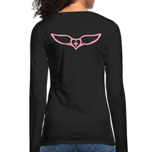 Load image into Gallery viewer, Favor-Women's Premium Long Sleeve T-Shirt - black